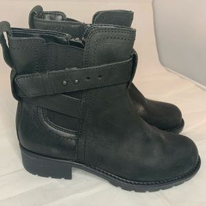 Women's Black Clark's Ankle Motorcycle Boots 6.5